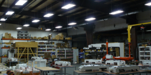 Image of factory with lights on