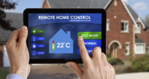 Smart Home Automation application on tablet